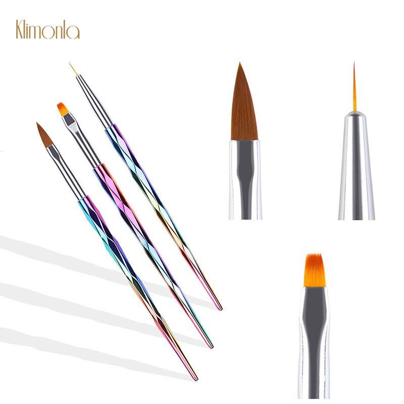 3 шт./компл. кисть для дизайна ногтей, ручка для рисования, лазерная градиентная ручка, УФ-гель, набор кистей для рисования, маникюрные инструменты для дизайна ногтей
