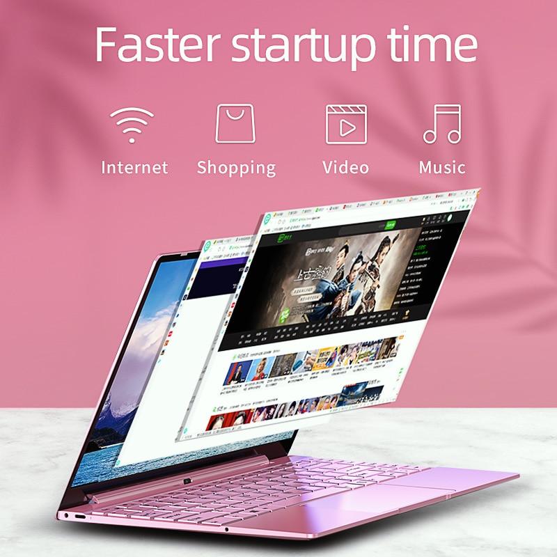 Dere V14 Air 14.1inch Laptop Notebook Intel i7 1920x1080 IPS Backlit Keyboard 8GB 256GB Gaming Computer Windows 10 Pro Mini PC