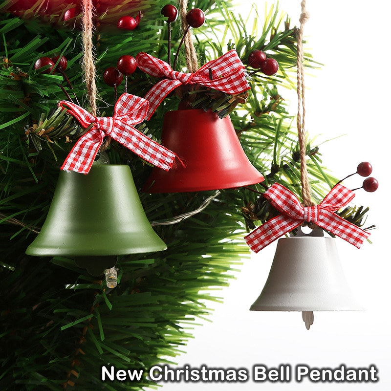 Christmas Tree Decoration Jingle Bell Ornament Hanging Xmas New Year Party Supplies Holiday Festival