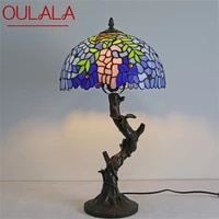 oulala tiffany table lamp modern creative decorative pattern figure led light for home bedroom