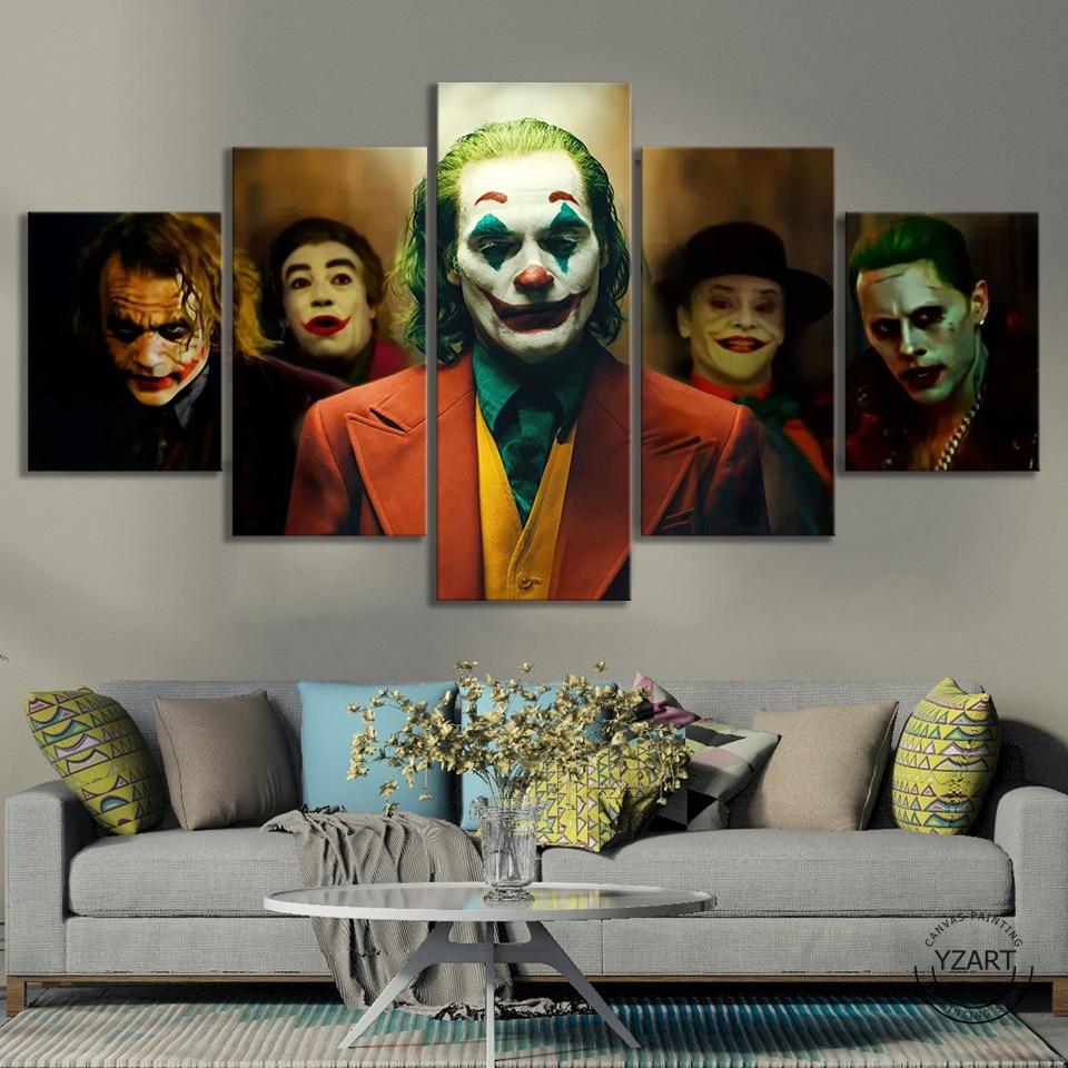 Joker 2019 film plakat malarstwo Halloween Decor Joker pochodzenia film HD ścienne obraz do sypialni wystrój