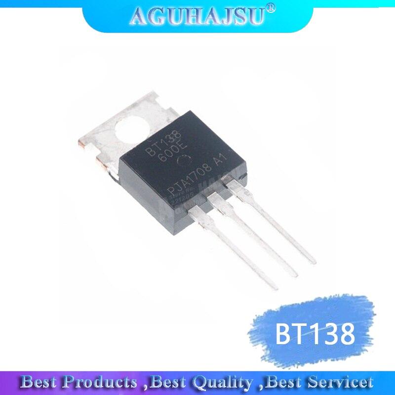 10 Uds BT138-600E TO220 BT138-600 TO-220 BT138 nuevo 12A/600V en línea TO-220 nuevo Tiristor/bidireccional SCR