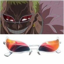 Gafas de sol de PVC de una pieza, lentes de Cosplay de donquijote, Doflamingo, Anime, divertido regalo de Navidad