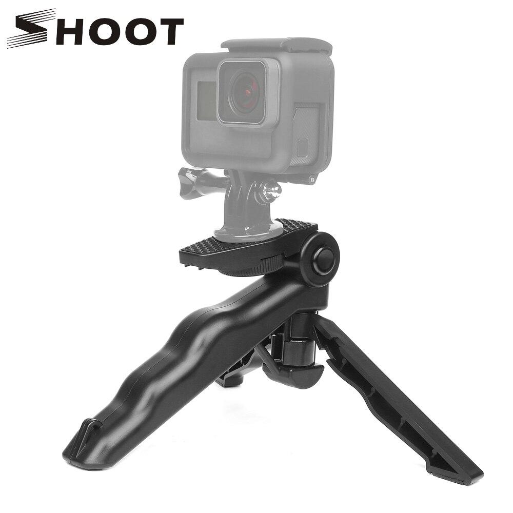 SHOOT Portable Camera Table Tripod For GoPro Hero 7 6 5 4 SJCAM SJ 4000 Xiaomi Yi Lite 4K Sony DSLR SLR Light Phone Tripod Stand