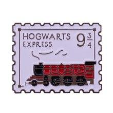 Express ticket Brosche 9 3/4 abzeichen Zauberei Zug Abzeichen Magie Schule Schmuck