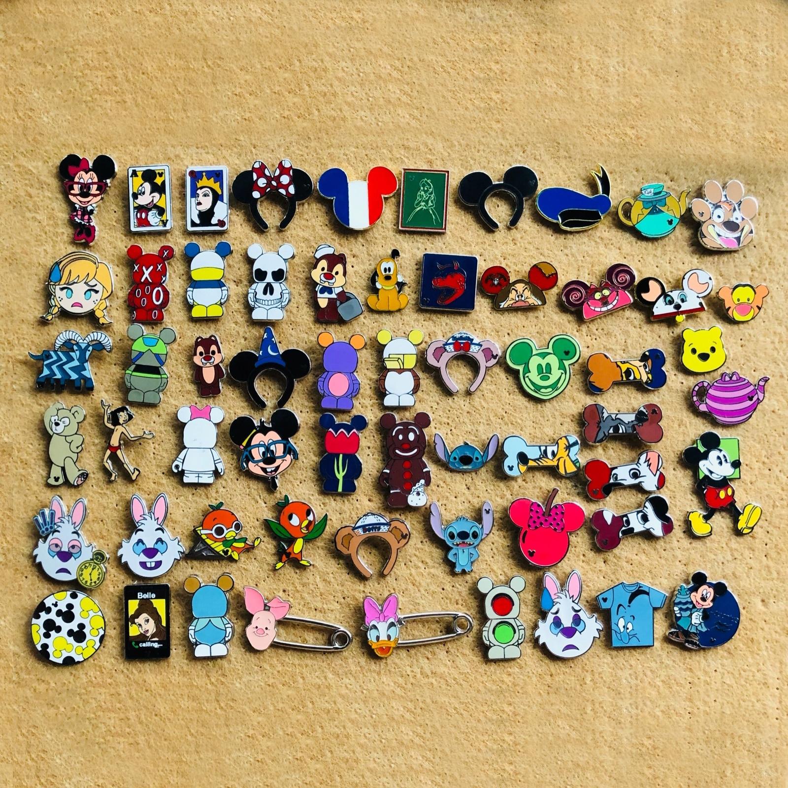 20 Uds. Insignia de intercambio de Disney, insignia decorativa para ropa de adultos de niños con cordón, insignias para mochila Kawaii, insignias para prendas de vestir