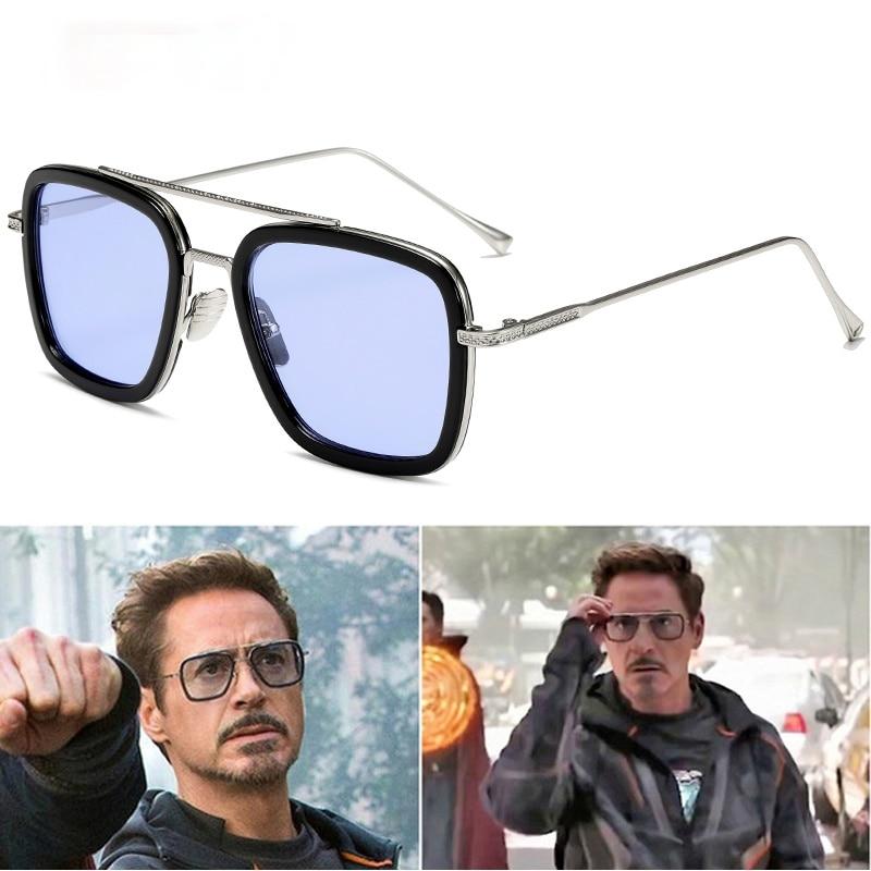 EDITH Tony Stark Glasses Men Women Sunglasses Gift Man Eyewear Steampunk Sun Glasses Male Goggles