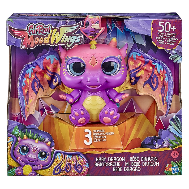 FurReal Moodwings Baby Dragon Interactive Pet Toy, 50+ Sounds & Reactions Electronic Pets Children Toys Boys Christmas Gift Doll
