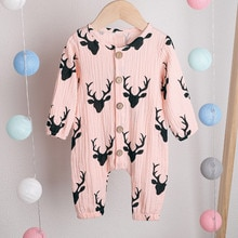 new born baby clothes baby boy romper winter clothes costume romper onesie disfraz bebe halloween 2019 Christmas Deer Cartoon Z4