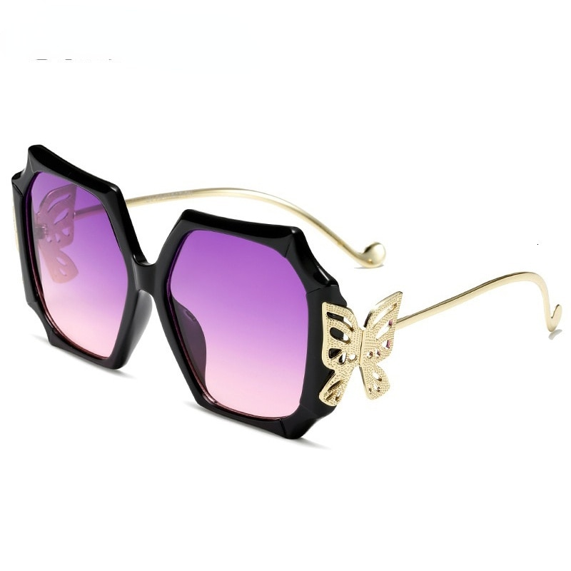 Oversize Square Brand Sunglasses For Women 2021 New Unique Style Butterfly Leg Female Sexy Elegant Shades Black Pink