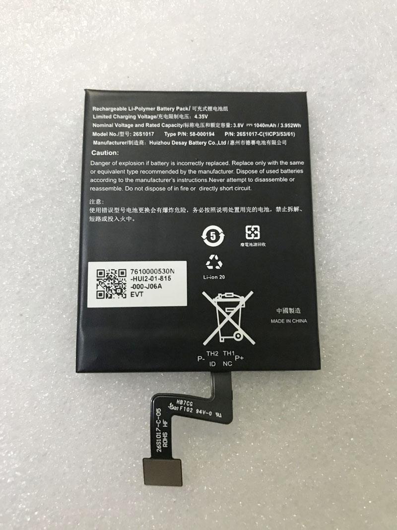 Nueva batería Original de polímero de litio de 1040mAh 26S1017 ST22 58-000194...