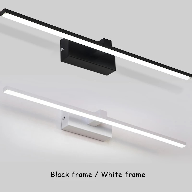 Hot Sale Modern LED Wall Light for Home White&Black Finished Bathroom Lamp Mirror Front Lights LED Wall Lamps