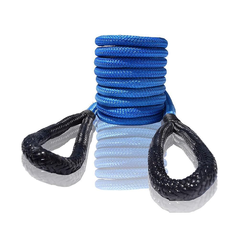 Cuerda de recuperación Egnery azul de 12mm x 6m, cuerda cinética de 1/2 pulgadas x 20 pies, cuerda de remolque para vehículos de alta resistencia, cuerda de remolque para camiones ATV UTV SUV