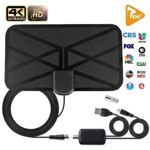 hengshanlao Digital HDTV Antenna Iindoor 1500 miles with Amplifier Signal Booster DVB-T2 ISDB Satellite Dish receiver TV Aerial