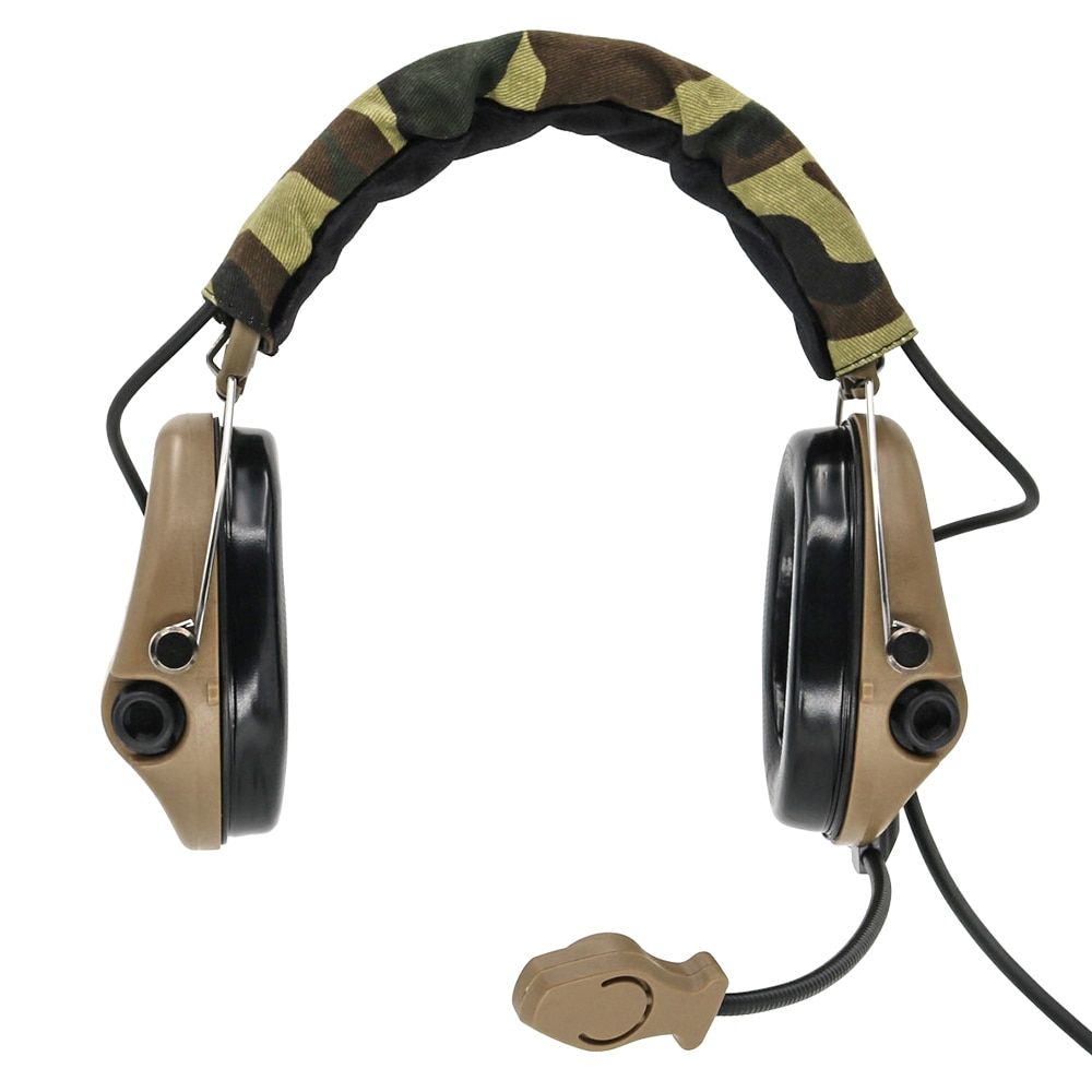 Tactical electronic shooting MSA SORDIN military hunting noise reduction headset tactical hearing protection ear protector DE enlarge