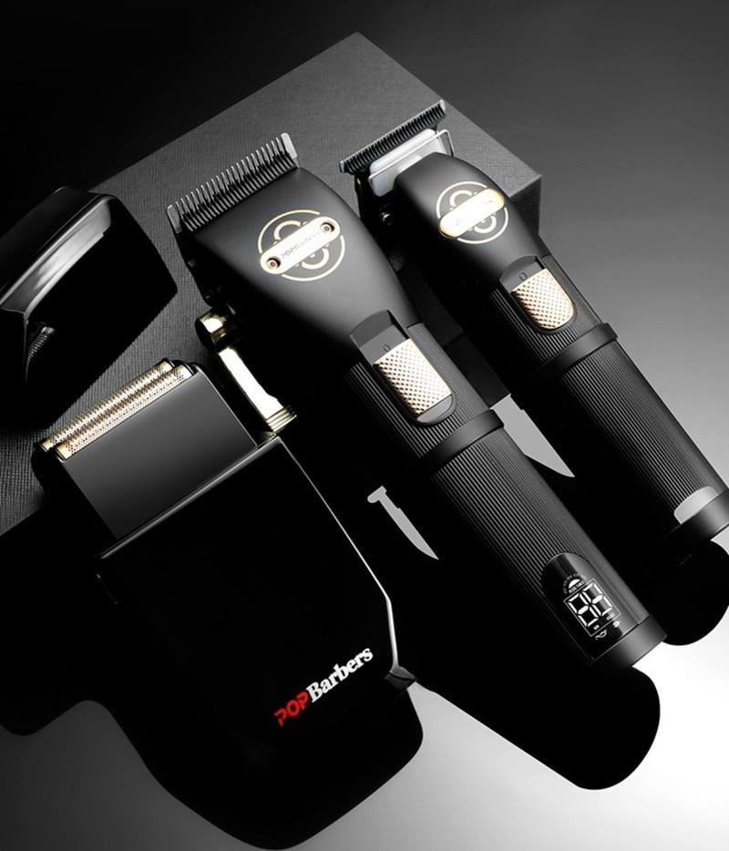 مشذب الشعر للرجال ، مشابك شعر المهنية ، ماكينة حلاقة اللحية قادين اللاسلكي شعبية قابلة للشحن آلة قص الشعر الحلاق