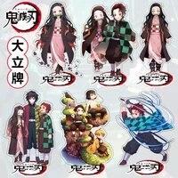 anime demon slayer kimetsu no yaiba figures kamado tanjirou action characters agatsuma zenitsu nezuko warrior acrylic model toys
