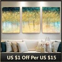 Toile de peinture darbre dore  abstrait  affiches et imprimes minimalistes nordiques  images artistiques murales pour decoration de salon  decoration de maison