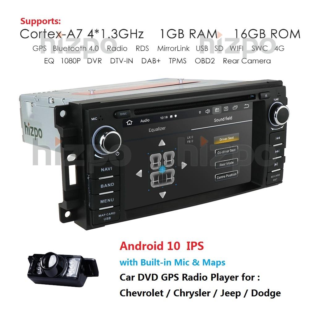 Android 10 4G 64G Автомобильный dvd плеер GPS навигация для Jeep Grand Cherokee 2009 2008 2010 Wrangler Компас Dodge Chrysler GPS SD BT
