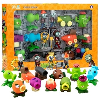 Large Genuine Plants vs. Zombie Toys 2 Complete Set Of Boys Soft Silicone Anime Figure Children's Dolls Kids Birthday Toy Gifts