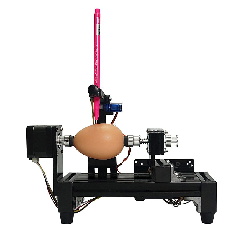 DIY LY eggdraw eggbot Egg-drawing robot draw machine Spheres drawing machine drawing on egg and ball for education children enlarge