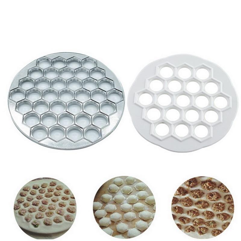 37 agujeros Dumplings fabricante de Dumplings molde raviolis aluminio molde Pelmeni Dumplings cocina herramientas DIY hacer Dumplings de pastelería
