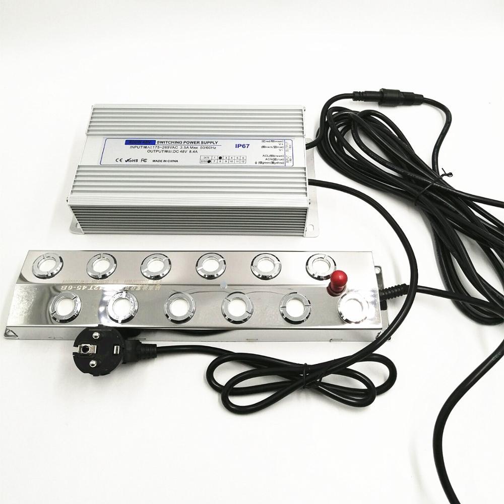 DC48V Ultrasonic 12 Head Humidifier + 220V Waterproof Power Supply Mist Maker Atomizer Industrial Fogger For Mushroom EU/AU/UK
