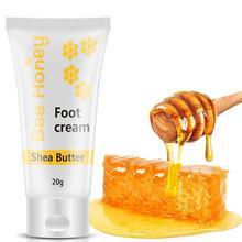 Miel exfoliant Anti-gerçure pied masque utile beurre de karité crème mains et pieds masque crème mains cire pied crème soin de la peau