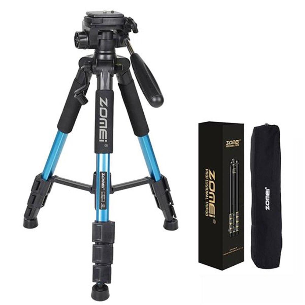 Zomei q111 leve viagem tripé de câmera profissional tripé para dslr canon nikon sony dv câmera vídeo acessórios