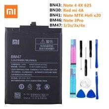 Für Xiaomi Redmi 4A Note3 3 Pro 3 3 S 3X 4X Batterie Hongmi 4A 3 S 4X MTK helio X20 Hinweis 4 Globale Snapdragon 625 Batterie