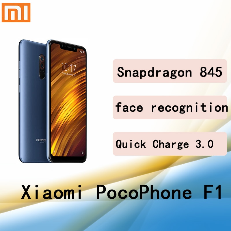 Смартфон xiaomi poco f1 googleplay, 6 + 845 ГБ, Snapdragon 128, 2246*1080 пикселей