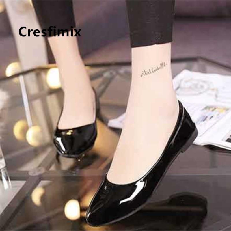 Cresfimix-zapatos planos sin cordones para dama, zapatillas cómodas con lazo gris, aterciopeladas,...