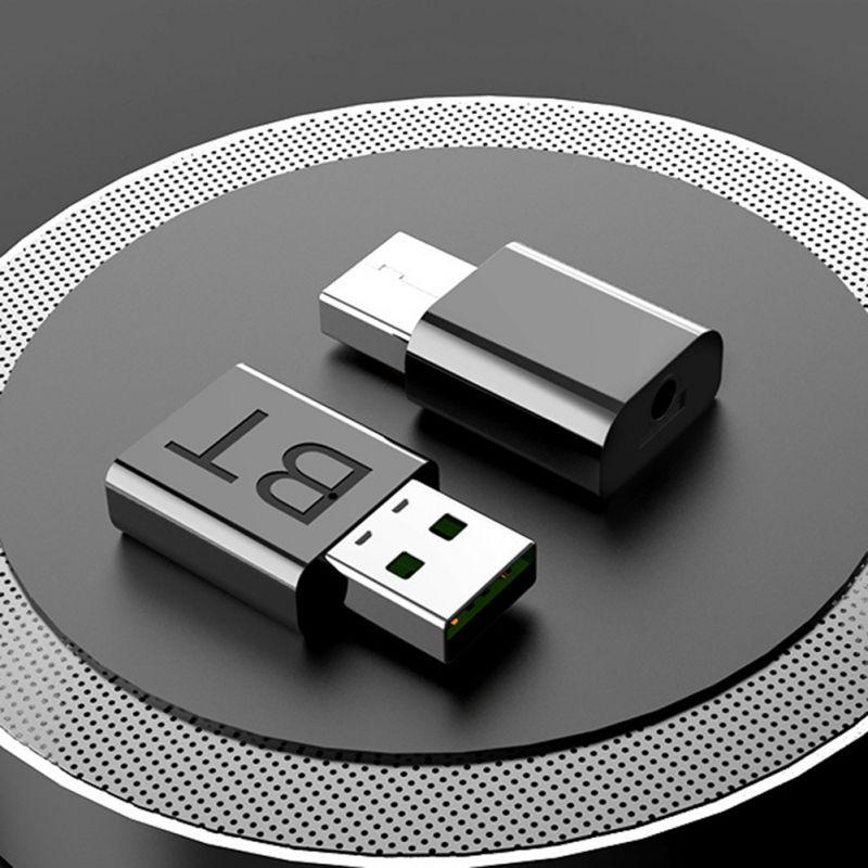 La entrega más rápida USB Bluetooth 5,0 transmisor receptor inalámbrico de Audio Dongle AUX Puerto adaptador Bluetooth transmisor receptor