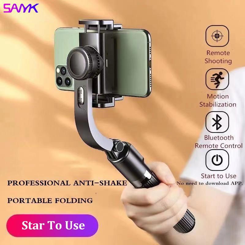 سانيك مثبت الهاتف المحمول مضاد للاهتزاز يده Gimbal اطلاق النار لايف ترايبود متعددة الوظائف Selfie عصا للهواتف الذكية