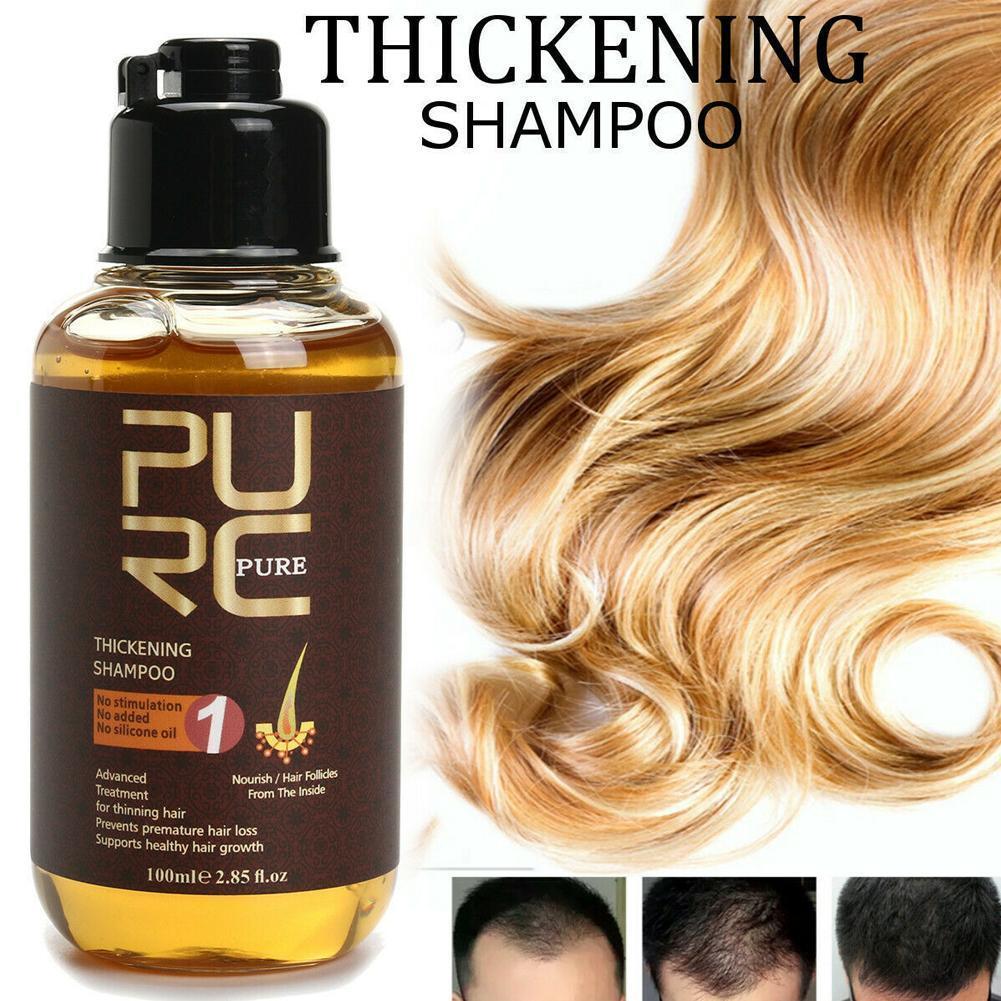 Шампунь PURC против выпадения волос, стимулирующий рост, шампунь, питательный шампунь, травяной уход за волосами, имбирный Уход за волосами C4D8