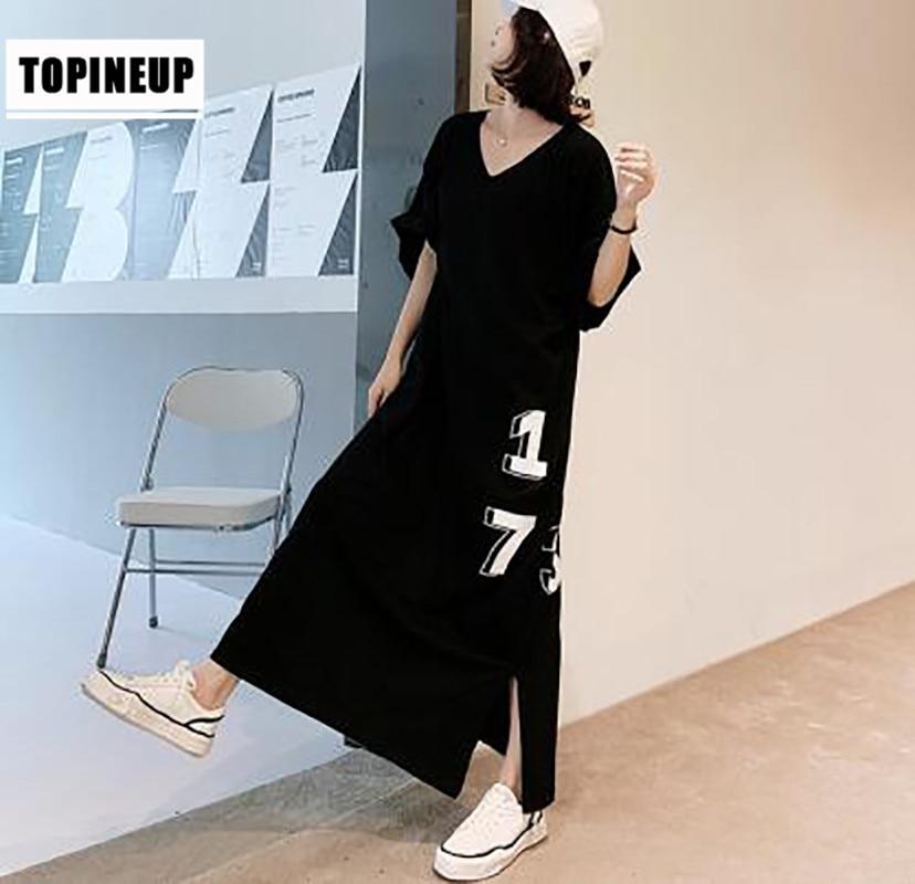 새로운 2020 짧은 소매 빈티지 코튼 가을 드레스 플러스 사이즈 여성 캐주얼 스트라이프 프린트 드레스 가운 Femme