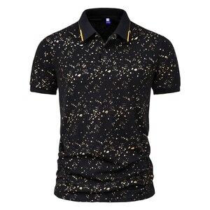 Tshirt Men 2021 Summer Business Casual T Shirt For Men Harajuku Polo Shirts Short-Sleeved Men Clothing Turn-Down Collar EU Size