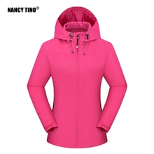 NANCY TINO Women's Windstopper Soft Shell Jacket Ski Fishing Waterproof Windbreaker Spring Winter Wa