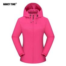 NANCY TINO Women's Windstopper Soft Shell Jacket Ski Fishing Waterproof Windbreaker Spring Winter Wa