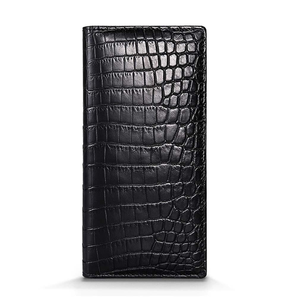Cestbeau new  two side crocodile skin  men Nile crocodile men bag business crocodile leather lining men clutch bag