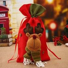 Christmas Supplies Santa Gift Bag New Year Linen Practical Christmas Children Candy Bag Gift Bag Chr