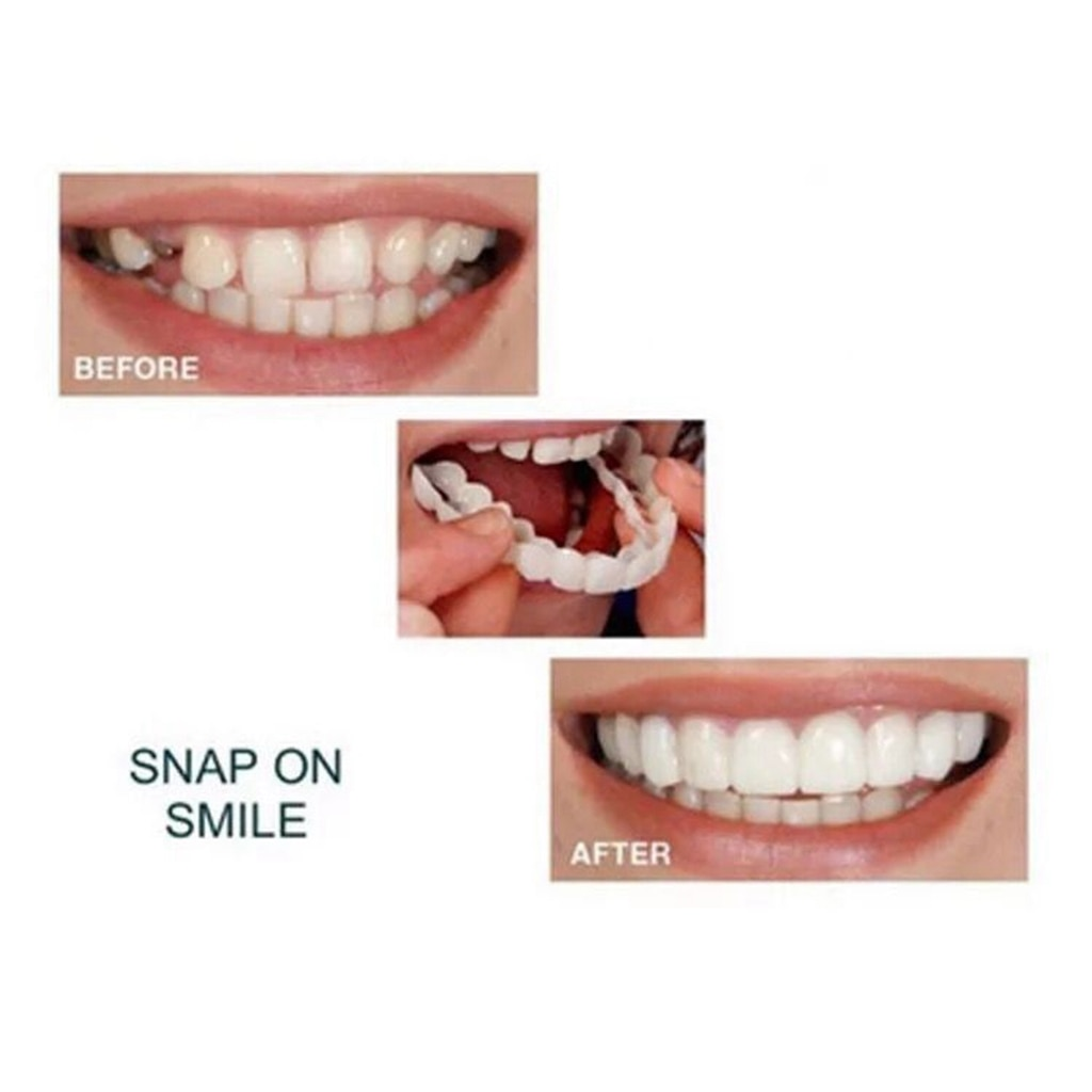 Натуральный косметический поддельный зуб чехол защелка силикон идеальный виниры зубы верх нижний красота инструмент зубы