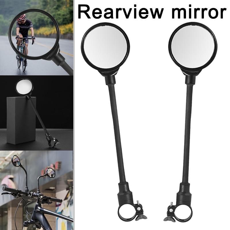 Espejo retrovisor para bicicleta, soporte de manillar, ángulo de seguridad ajustable, giratorio para bicicleta de montaña, WHShopping