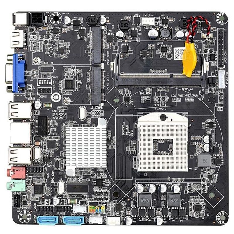HM55B PGA988 DDR3 SATA II Mini ITX Desktop PC Mainboard Motherboard para Mini Host/HTPC/Máquina de Publicidade/rádio