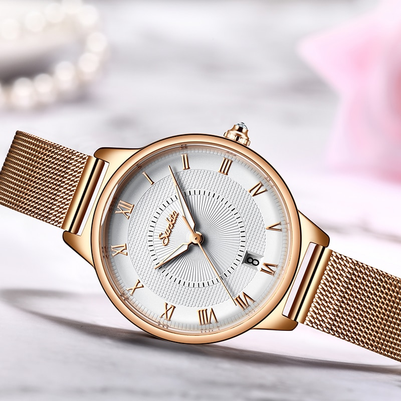 SUNKTA Stainless Steel Watch Women Simple Fashion Dress Ladies Watches Casual Quartz Hand Watch Girl Clock Relogio Feminino +Box enlarge