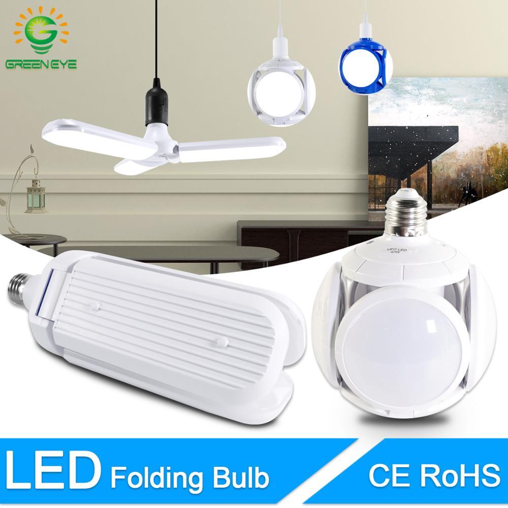 Bombilla LED E27, 40W, 9W, blanco frío, cálido, AC 220V, 240V, Bombilla, foco, lámpara LED, lámpara de fútbol UFO, Bombilla LED para el hogar