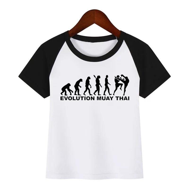 Детская футболка для борьбы с Муай Тай, детская забавная одежда, детская летняя футболка, детская модная одежда, футболка