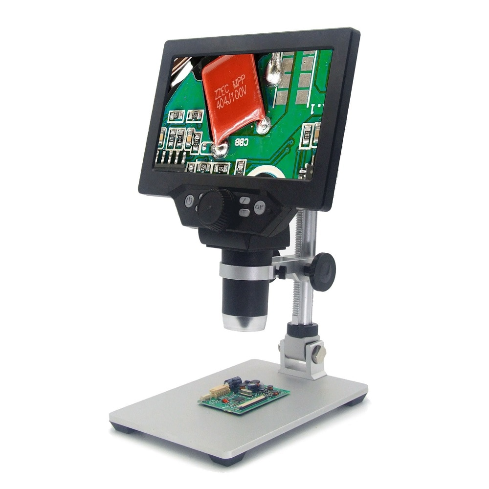Aliexpress - Mustool G1200 2019 Newest Digital Microscope 12MP 7 Inch HD LCD Display 1-1200X Continuous Amplification Rotatable Magnifier