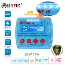 HTRC цифровое RC зарядное устройство, iMax B6 Mini V2 80 Вт для PB Lipo Lihv LiIon LiFe NiCd NiMH Smart Battery Dis Charger