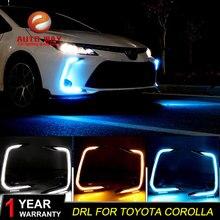 Case For Toyota Corolla 2019 2020 Turning Signal Relay Car DRL 12V LED Toyota Corolla Daytime Running Light Fog Lamp